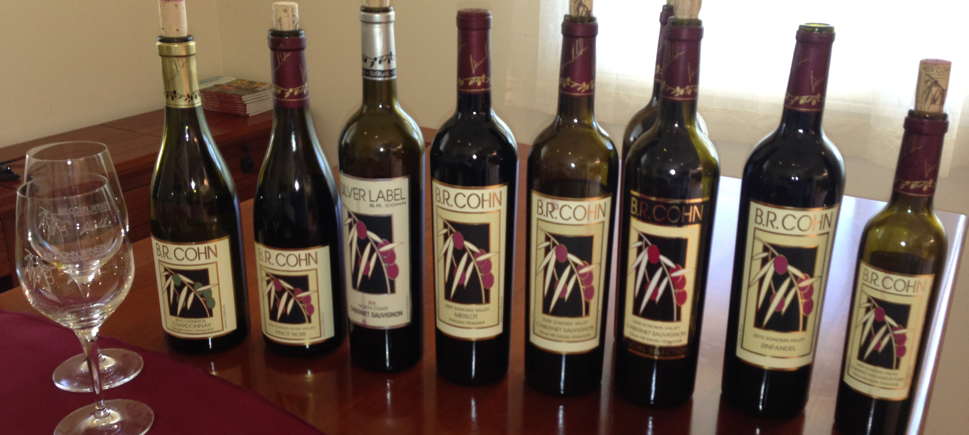Wines to Sample at BR Cohn Winery