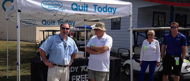 Cigar Dave at the Tobacco Free Florida Tent