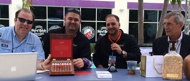 Cigar Dave with the folks from Davidoff Cigars at Alpha Pleasurefest