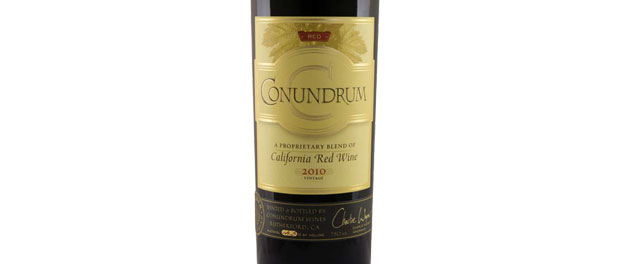 Conundrum Red Wine Bottle