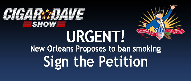 Sign the Petition to tell New Orleans to not ban smoking