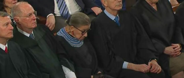 Judge Ruth Bader Ginsburg Sleeping at State of the Union Address