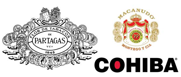 Partagas, Cohiba & Machanudo Logos