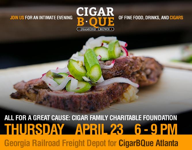 CigarBQue is Thursday, April 23, 2014 in Atlanta