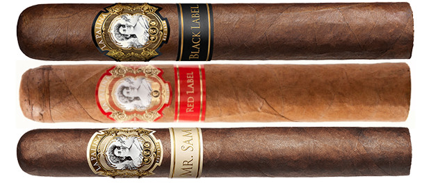 La Palina Black Label, La Palina Red Label, and La Palina Mr. Sam Cigars