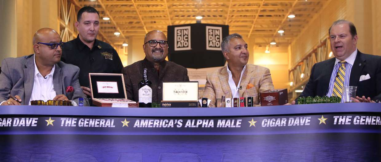 Cigar Dave with Rocky Patel, Nish Patel and Nimish Desai at 2015 IPCPR