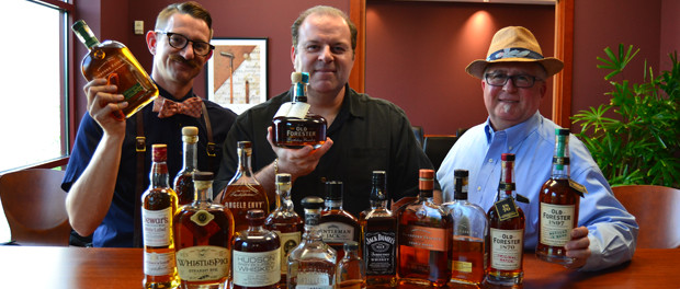 Cigar Dave, Sommelier Dave & Mike Ring with Bourbons for Tastings on September 26, 2015