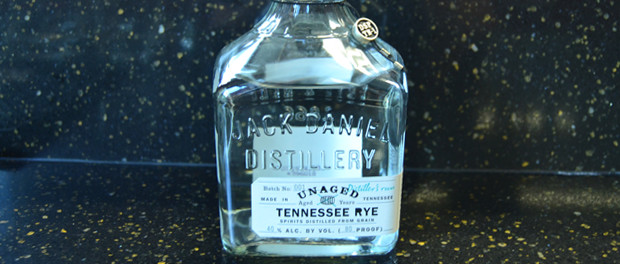 Jack Daniels Unaged Tennessee Rye Bottle