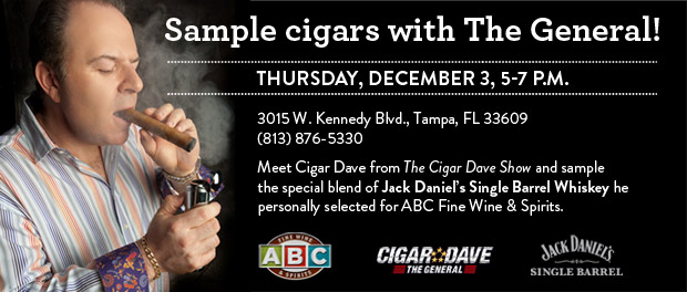 Jack Daniel's Single Barrel Tasting with Cigar Dave at ABC Fine Wine & Spirits