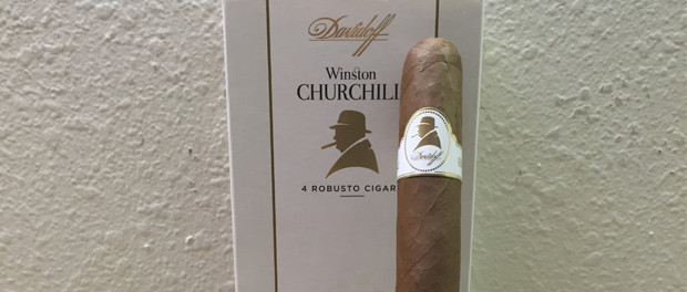 Davidoff Winston Churchill Robusto Cigar and Box
