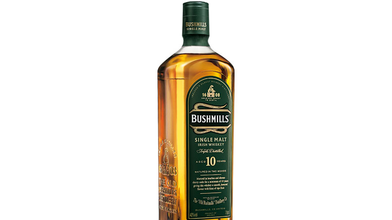 Bushmills Single Malt 10 Year Whiskey bottle