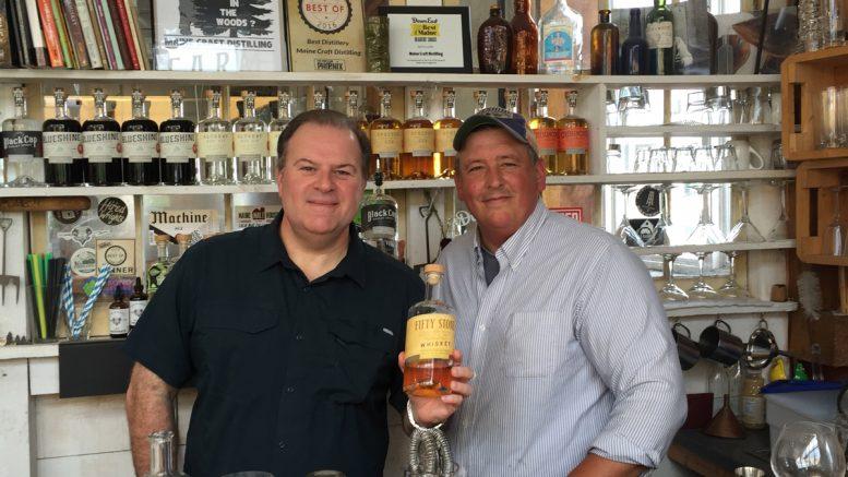 Cigar Dave with Luke Davidson at Maine Craft Distilling