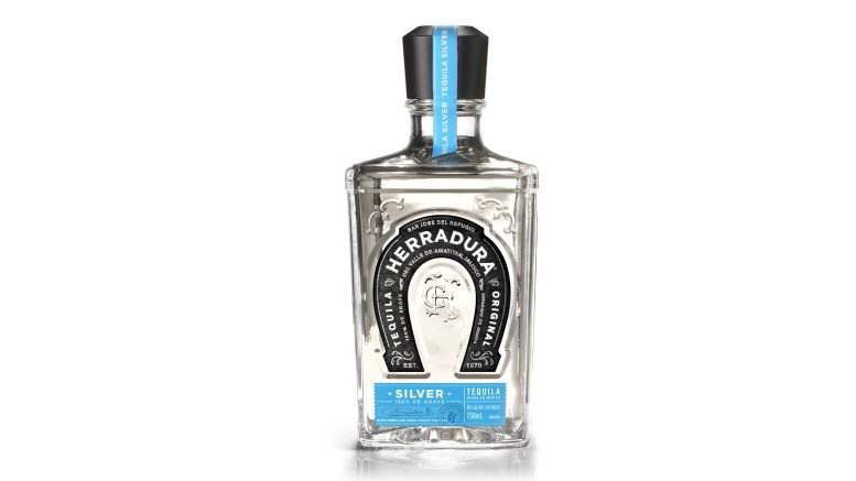 Herradura Silver Tequila bottle