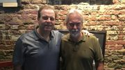 Cigar Dave with Dr. Jim Mitchell at the Bad Monkey in Ybor City