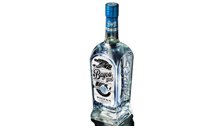Bayou Silver Rum bottle