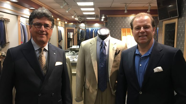 Cigar Dave and Martin Shine at Kirby's Mens Wear in Tampa, FL