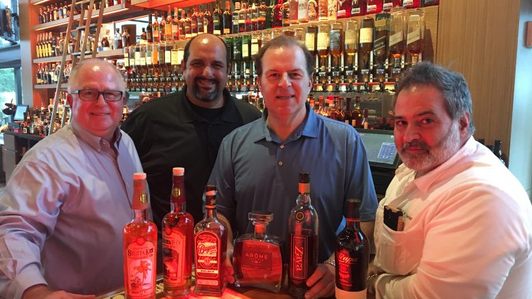 Cigar Dave with Sommelier Dave, Tommy D, and Big Dom at Corona Cigars in Tampa for Rum Tasting Manevuers