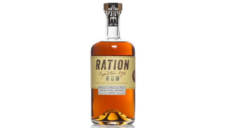 Ration Rum bottle from Maine Craft Distilling