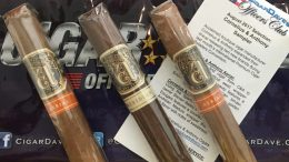 Cigar Dave Officers Club for August 2017 is a Cornelius and Anthony Sampler featuring the new Aerial and Meridian