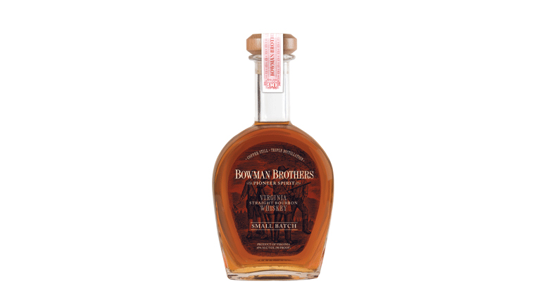 Bowman Brothers Virginia Straight Bourbon Whiskey bottle