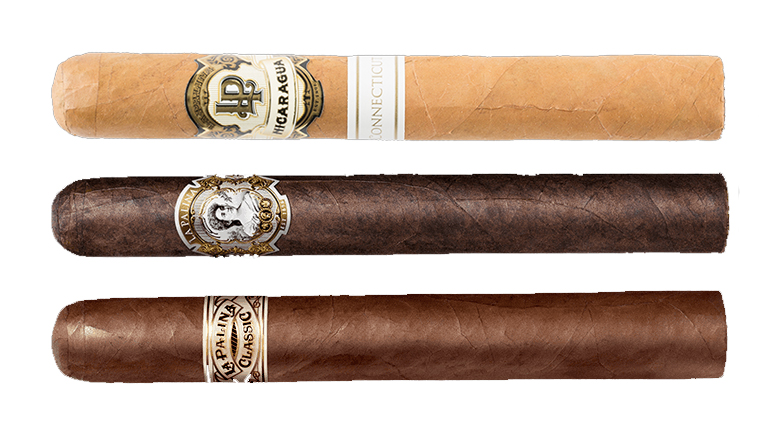Cigar Dave Officers Club for September 2017 is the La Palina Sampler including the La Palina Connecticut Nicaragua, La Palina Classic Natural and La Palina Maduro cigars