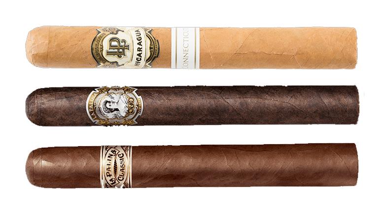 Cigar Dave Officers Club for September 2017 is the La Palina Sampler including the La Palina Connecticut Nicaragua, La Palina Classic Natural and La Palina Maduro cigars