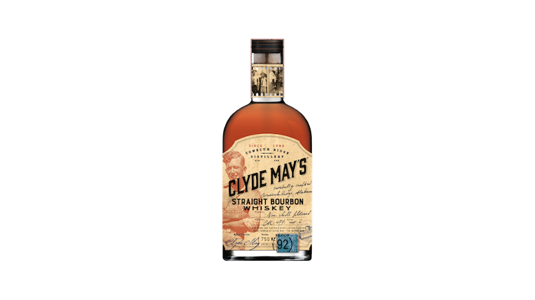 Clyde May's Straight Bourbon Whiskey bottle