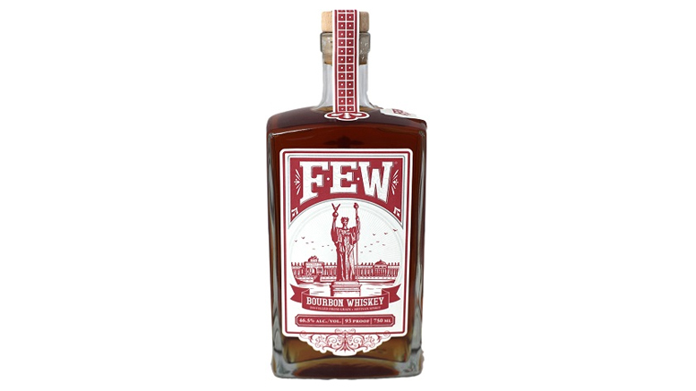 FEW Bourbon Whiskey bottle