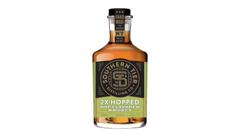 Southern Tier 2x Hopped Hop Flavored Whiskey bottle