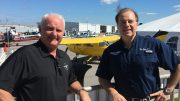 Cigar Dave and Mark Baker at the 2017 AOPA Fly-In at Peter O'Knight Airport in Tampa, FL