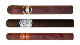 Crowned Heads Sampler for Cigar Dave Officers Club March 2018 featuring Four Kicks, Le Careme, and Luminosa