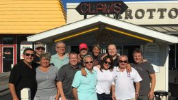 Cigar Dave and crew at Marotto's Restaurant in Buffalo, New York, on August 12th, 2018