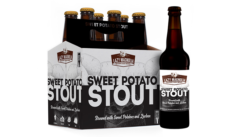 Sweet Potato Stout beer from Lazy Magnolia
