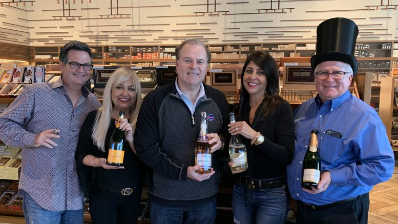 Cigar Dave's 2019 Happy New Year Champagne & Sparkling Wine Tasting Maneuvers with Sommelier Dave, Princess, Honey Bear and Tequila Jerry from the Davidoff of Geneva Since 1911 store in Tampa, FL