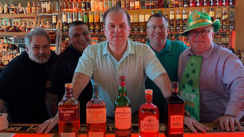 Cigar Dave's 2019 St. Patrick's Day Irish Whiskey Tasting Maneuvers from the Davidoff of Geneva Since 1911 Store in Tampa, FL with Sommelier Dave, Tommy D, Angel Benitez and Sgt. Steve