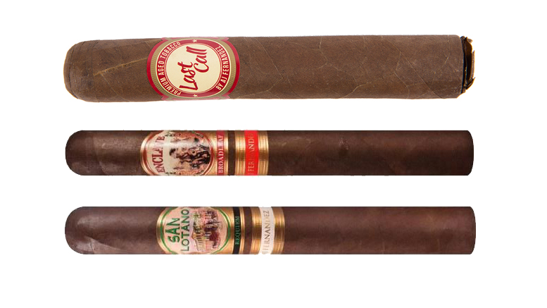 The Cigar Dave Officers Club selection for October 2019 is an AJ Fernandez Sampler including the Last Call Habano, the Enclave Broadleaf, and the San Lotano Requiem Habano.