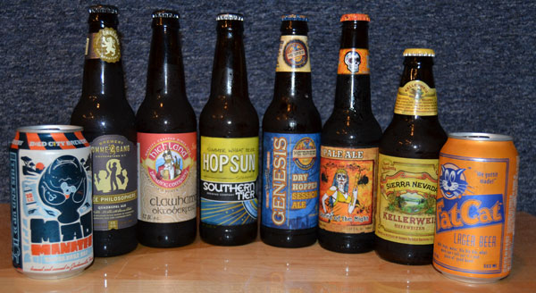 Mad Manatee, Ommegang, Highland, Southern Tier, Genesis, Queen of the Dead, Sierra Nevada and Fat Cat beers