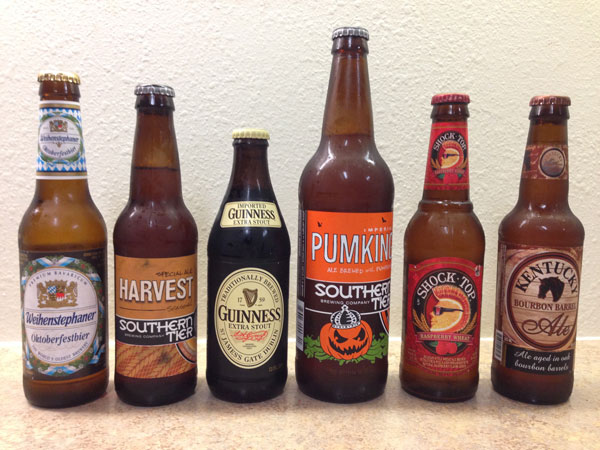 Weihenstephaner, Southern Tier, Guinness, Shock Top and Kentucky Bourbon Ale beers